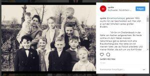Ein Bild, das die SPD auf Instagram gepostet hat: Ein Schwarz-Weiß-Bild von einer Familie.
